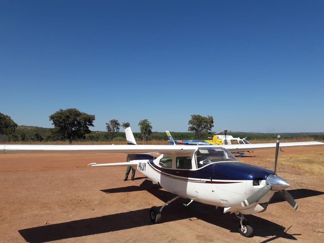 Aeronave que saiu da Bolívia com 300 kg de cocaína é apreendida no Tocantins