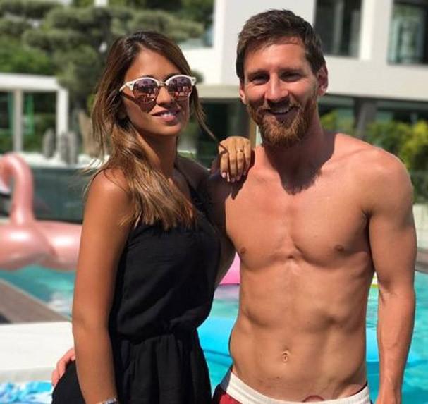 Messi e Antonella (Foto: Reprodução/Instagram)