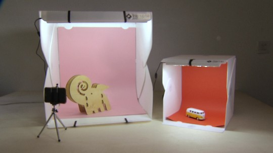 Mini estúdio fotográfico facilita a venda dos e-commerces