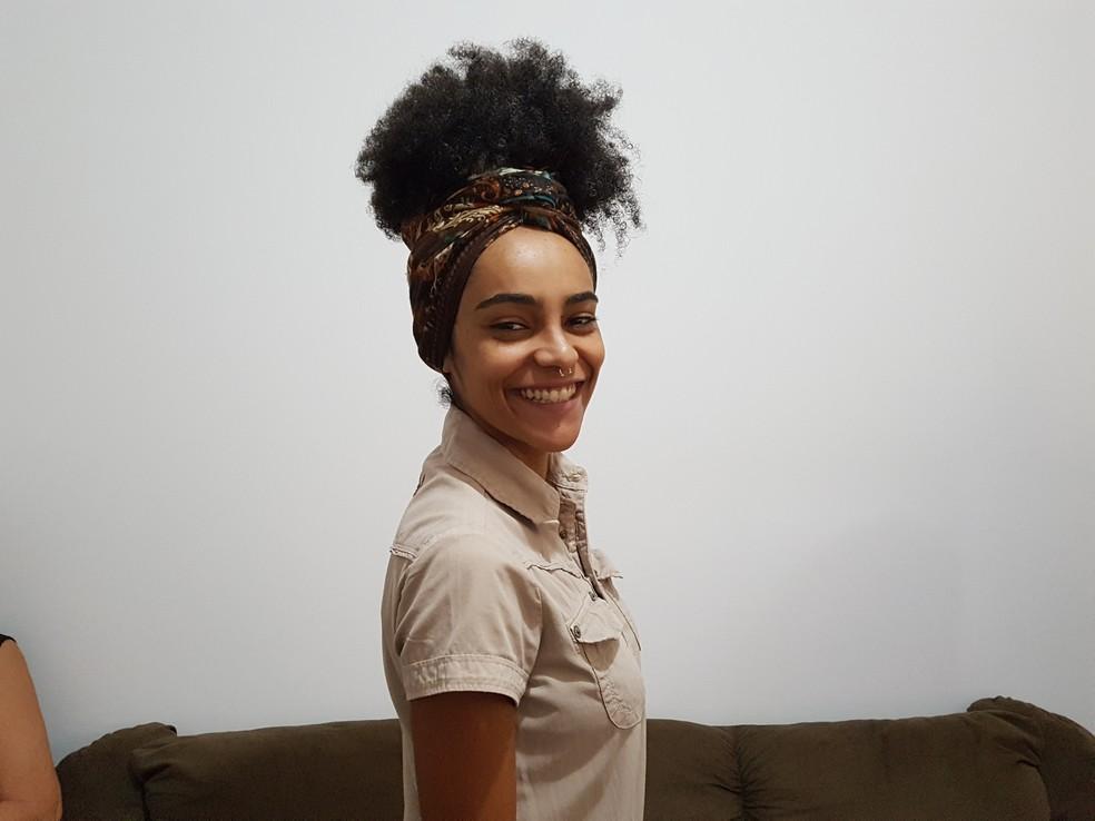 Gabriela, do BBB19, não se esquece do momento em que Ana Clara invadiu seu quarto — Foto: Gabriella Dias/Gshow