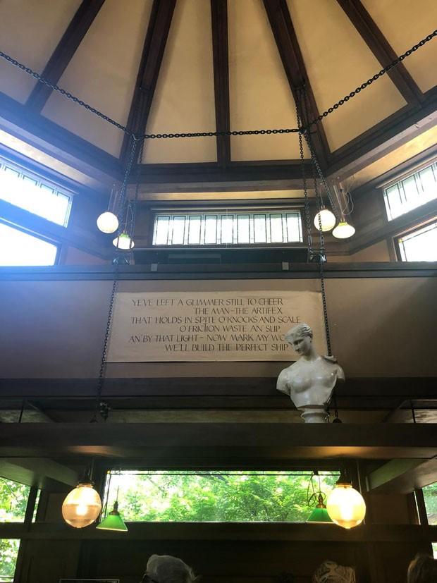 Conheça a casa de Frank Lloyd Wright  em Chicago (Foto: Taissa Buescu)