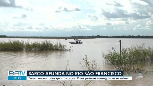 Barco afunda durante tempestade e quatro pessoas desaparecem no rio São Francisco