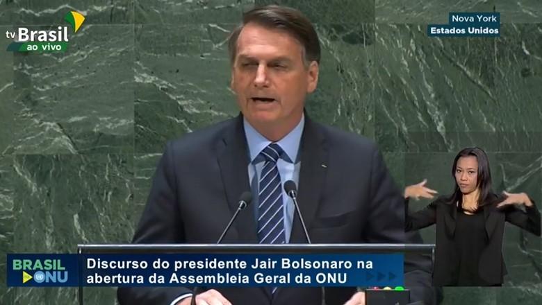 bolsonaro-onu (Foto: Reprodução/TV Brasil)