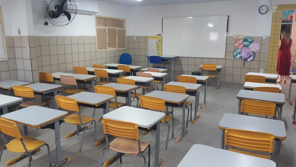 Escola Estadual Berilo Wanderley, em Natal — Foto: Sérgio Henrique Santos/Inter TV Cabugi