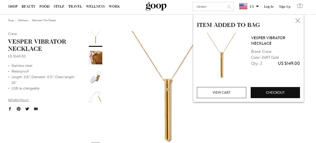 Colar/ Vibrador Goop (Foto: Reprodução)