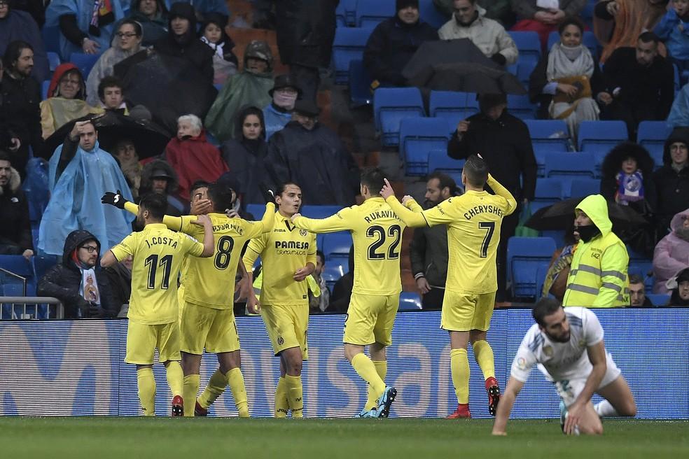 Jogadores comemoram o golaço de Fornals, aos 42 minutos do segundo tempo (Foto: AFP)