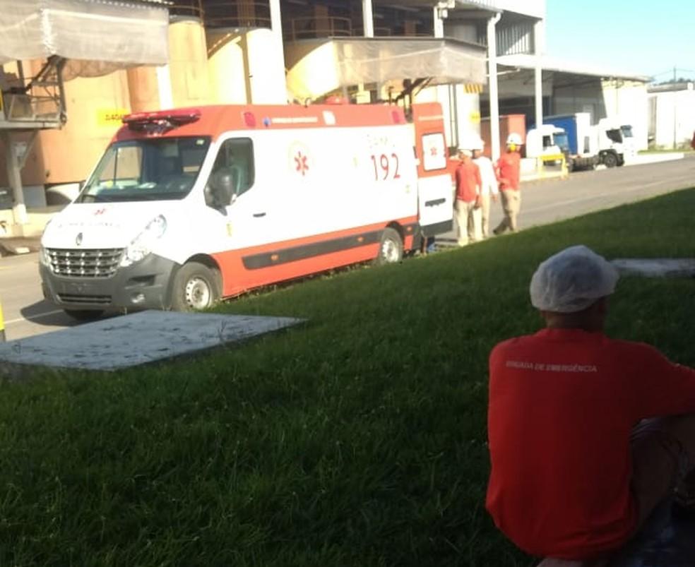 Indústria tem vazamento de gás não identificado — Foto: Sindicacau