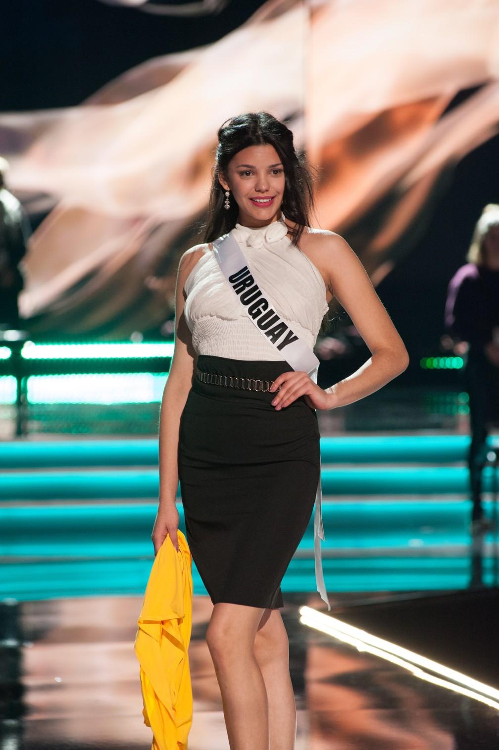 Marisol Acosta, Miss Uruguai (Foto: Patrick Prather/Miss Universe Organization/AFP)