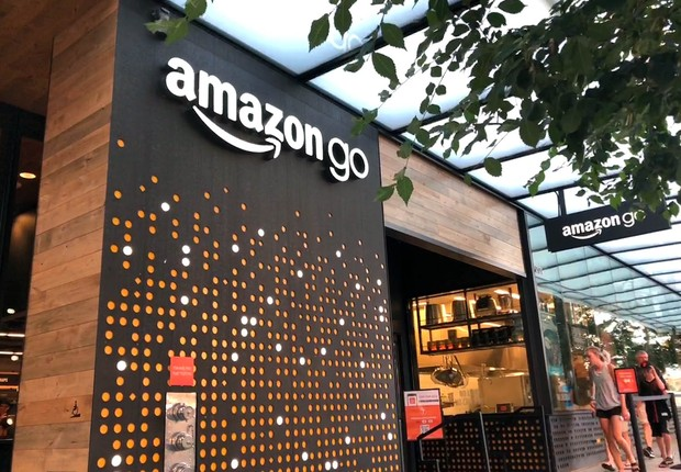 Fachada da Amazon Go, supermercado sem filas da Amazon (Foto: Época NEGÓCIOS)