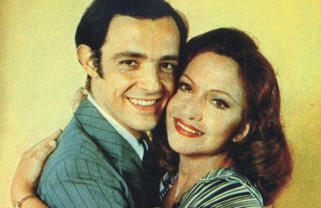 Ney Latorraca e Nathália Thimberg em 'escalada': novela de Lauro César Muniz foi exibida em 1975 (Foto: Reprodução)