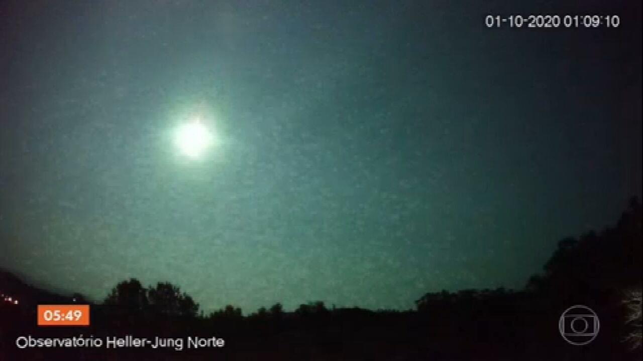 Queda de meteoro ilumina o céu do Rio Grande do Sul
