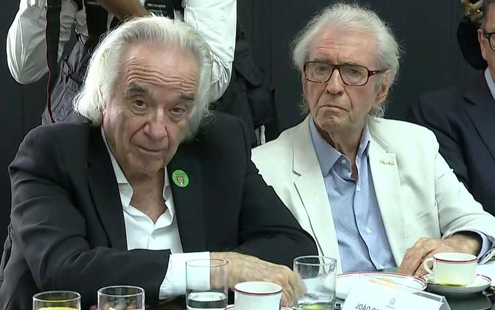 O maestro João Carlos Martins e o ator Juca de Oliveira farão parte do conselho de cultura — Foto: TV Globo/Reprodução