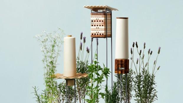 Estúdio de design cria peças para abrigar e alimentar abelhas solitárias (Foto: Divulgação)