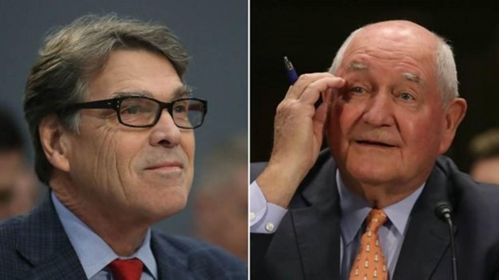 Secretário de energia, Rick Perry, e o de Agricultura, Sonny Perdue, também são integrantes do grupo que estuda a Bíblia (Foto: Getty Images/ BBC)