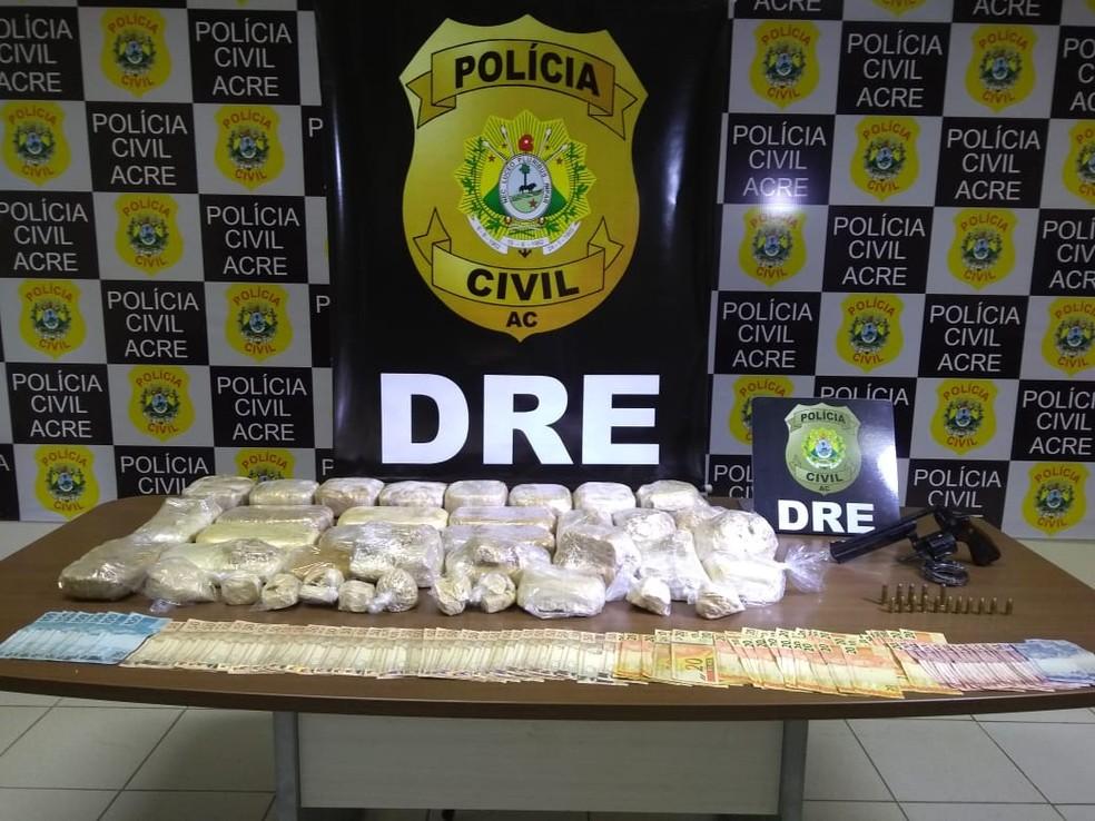 Mais de 70 quilos de droga foram apreendidos no AC nos primeiros 3 meses do ano — Foto: Alcinete Gadelha/G1