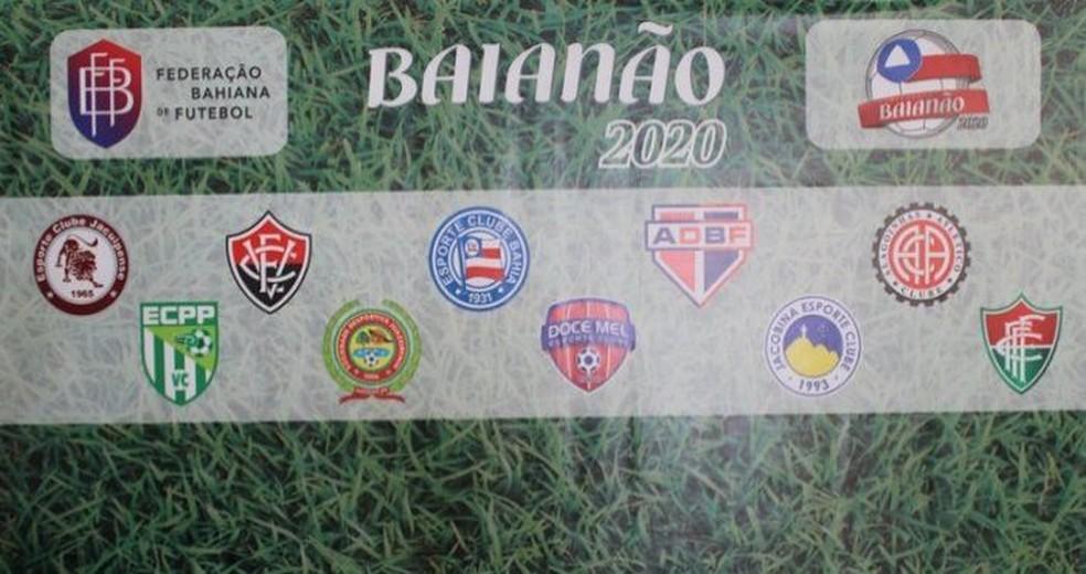Campeonato Baiano 2020 será disputado por dez clubes — Foto: Divulgação / FBF