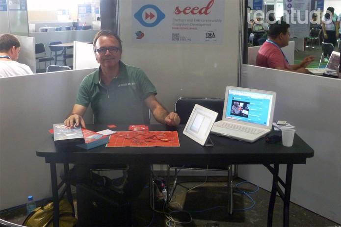 O publicitário e criador da startup O X da Questão, Fabio Garcia, na Open Campus (Foto: Melissa Cruz/TechTudo)