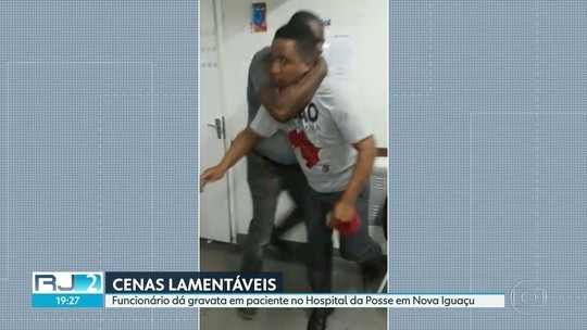 VÍDEO: funcionário dá 'gravata' em paciente, que cai desacordado