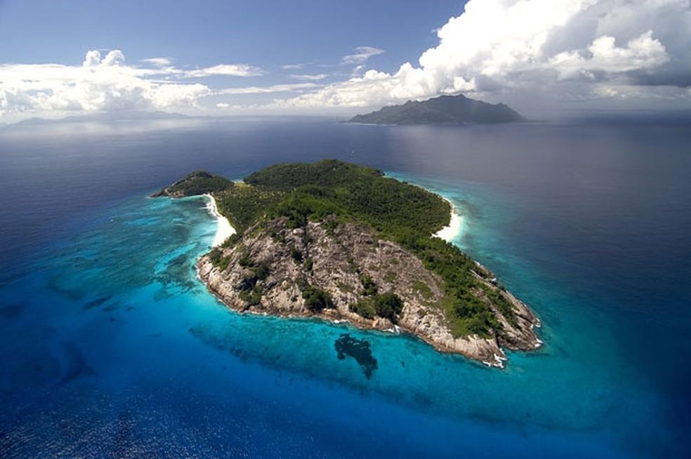 Vista aérea das Ilhas Seychelles, arquipélago no Oceano Índico (Foto: AP / Wilderness Safaris)