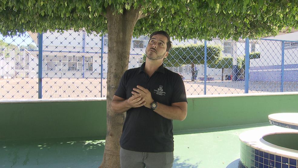 Professor Ronaldo Accioly foi vítima de veneno de lagarta (Foto: TV Globo/Reprodução)
