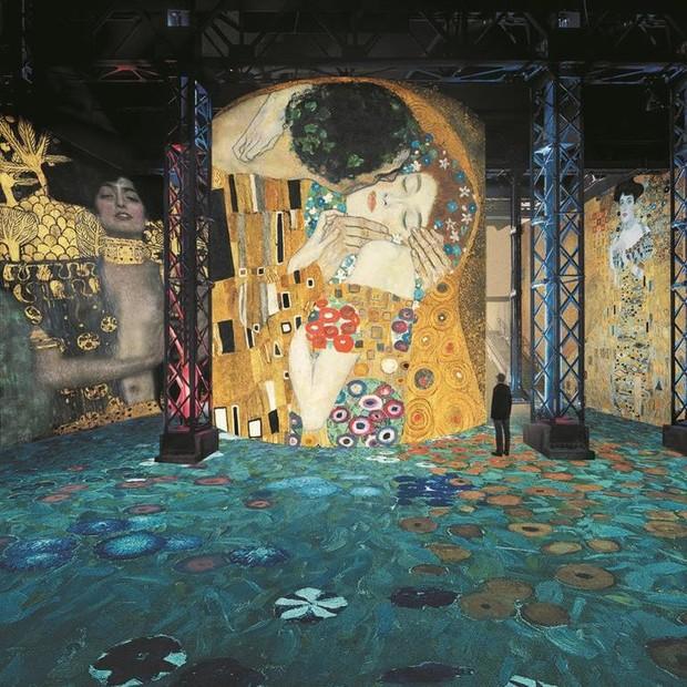 Exposição de Gustav Klimt no Atelier des Lumières  (Foto: divulgação)
