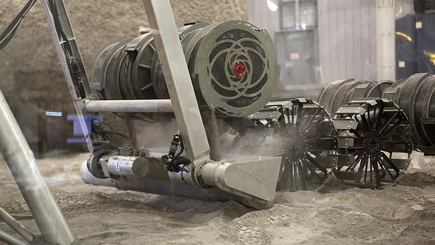 Robôs de escavação da Nasa em teste  (Foto: Divulgação/Nasa)