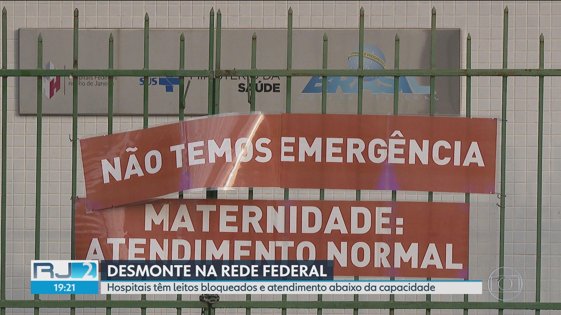 Com 40% dos leitos impedidos na rede federal no RJ, única emergência tem pacientes pelos corredores