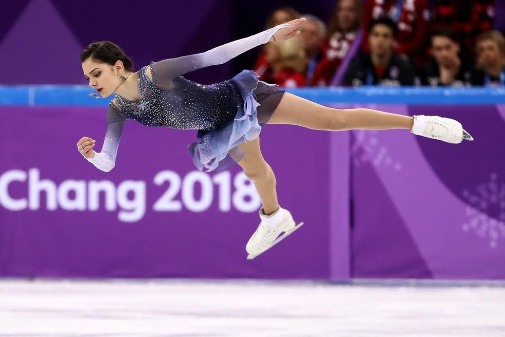 Evgenia Medvedeva Rússia patinação artística PyeongChang (Foto: Jamie Squire/Getty Images)