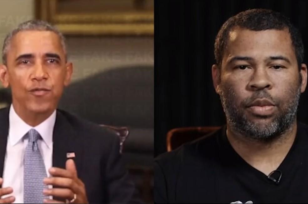 Vídeo com discurso de Barack Obama parece real, mas as palavras são do diretor Jordan Peele — Foto: Reprodução/BuzzFeed