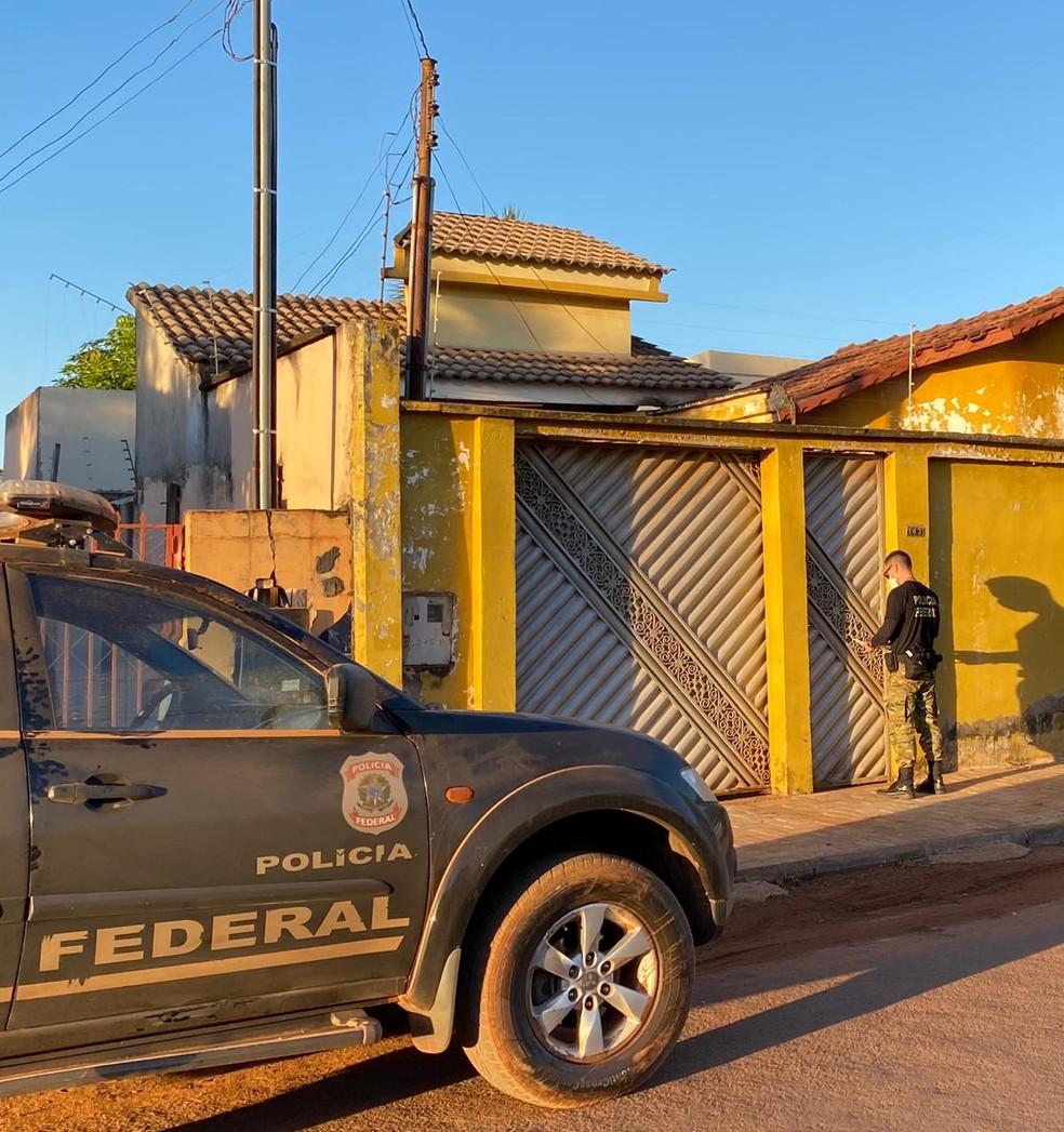 Polícia Federal deflagrou nesta quarta-feira (12) em Confresa/MT a quarta fase da Operação Tapiraguaia — Foto: Polícia Federal de Mato Grosso