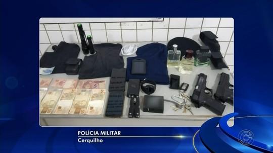 Ladrão é preso após agredir família durante roubo a casa em Cerquilho