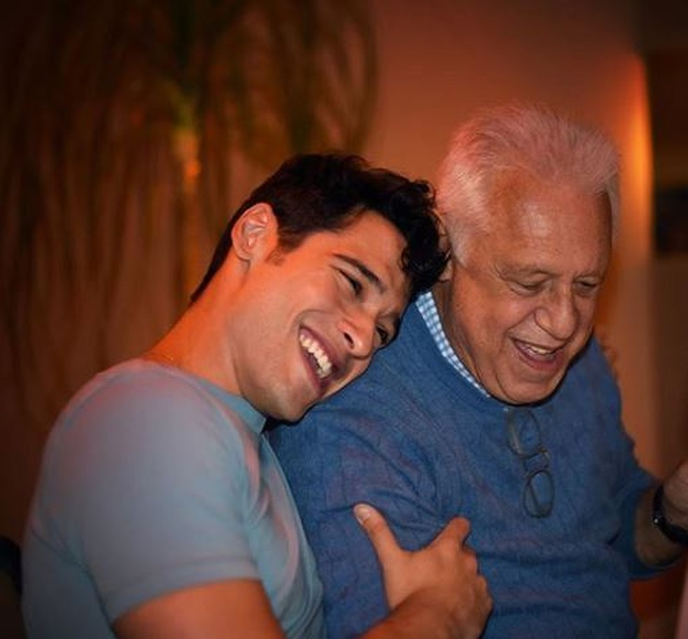 Bruno e Antônio Fagundes — Foto: Reprodução/Instagram