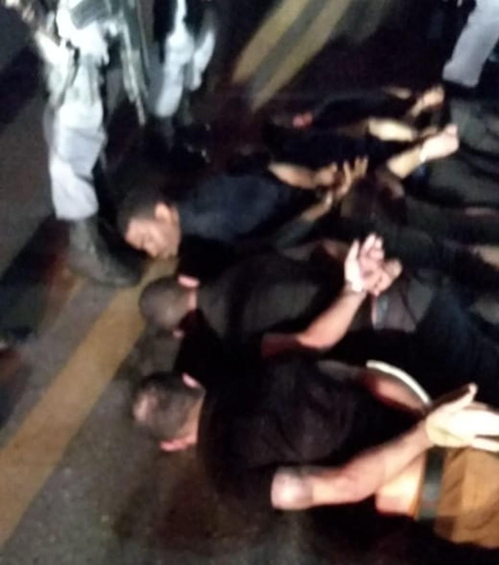 Polícia prende em Santa Luzia do Paruá bandidos envolvidos em assalto em agência bancária em Bacabal — Foto: Divulgação/Polícia Militar