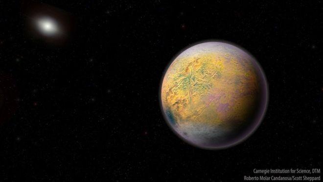 'Duende', ou 'Goblin', é considerado um indicador da existência do hipotético 'Planeta X' (Foto: ROBERTO CANDANOSA E SCOTT SHEPPARD/CARNEGIE via BBC News Brasil)