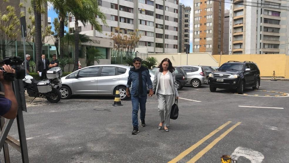 Andréa Neves chega à PF de Belo Horizonte, onde será ouvida — Foto: Fernando Zuba/Globo