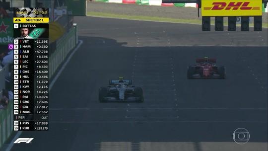 Vettel reclama após confusão no fim do GP do Japão: só a bandeira quadriculada devia valer