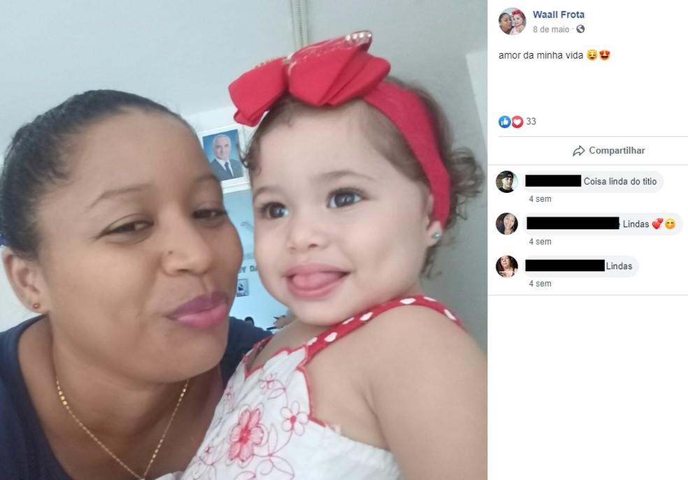 Mulher e filha foram assassinadas pelo homem no interior do Ceará — Foto: Reprodução/Facebook