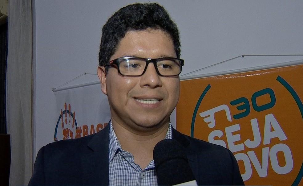 Feliciano Azuaga, candidato ao Senado — Foto: TVCA/Reprodução