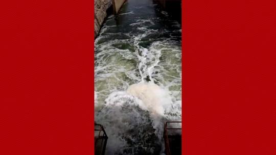 Esverdeada, água da maior barragem do RN chama atenção; veja vídeo