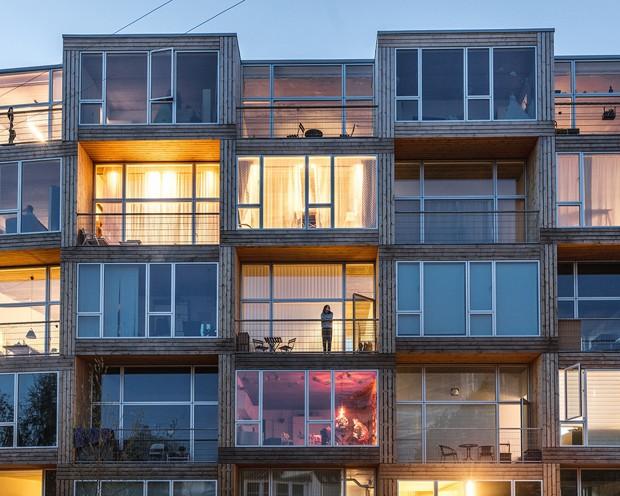 Voltado para pessoas de baixa renda, Copenhague ganha edifício com design incrível (Foto: Divulgação / Rasmus Hjortshoj)