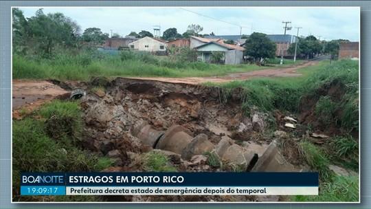 Prefeitura de Porto Rico decreta estado de emergência por causa de temporal