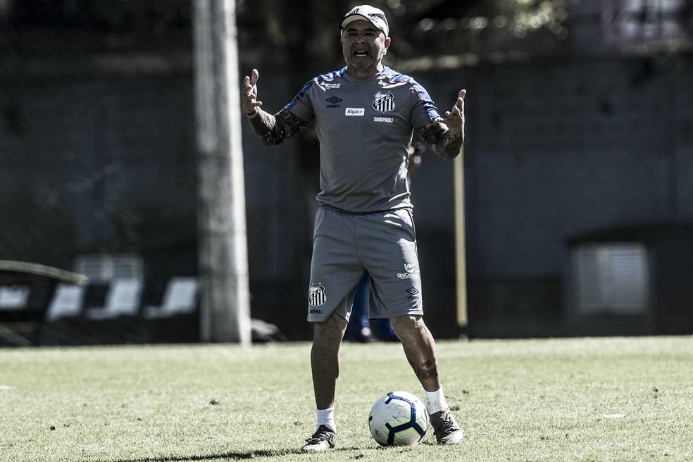 Jorge Sampaoli, técnico do Santos — Foto: Ivan Storti / Divulgação Santos FC