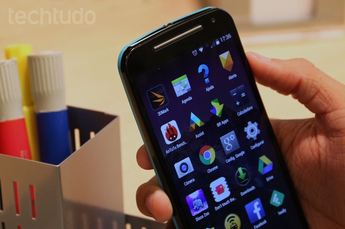 Moto G 2015 ganhou várias melhorias e suporta Internet 4G (Foto: Techtudo/Isadora Diaz)