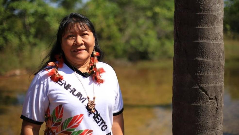 Joenia Wapichana, 43, foi a primeira mulher indígena eleita para a Câmara dos Deputados — Foto: Reprodução/Facebook/Joenia Wapichana