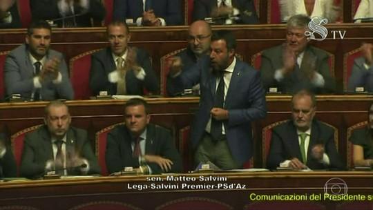 Senado italiano vota moção de desconfiança de Giuseppe Conte