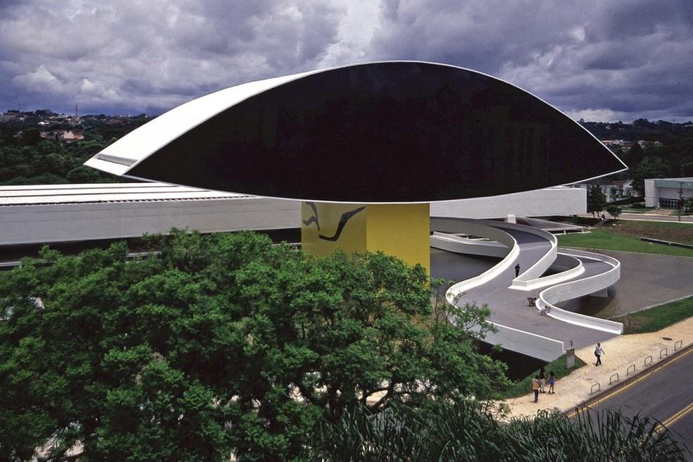 Museu Oscar Niemeyer estende horário de visitação até as 20h nesta quarta-feira (2). — Foto: Leonardo Finotti/MON.
