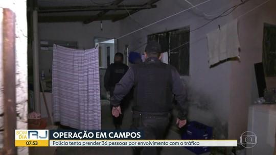 Doze pessoas são presas em operação contra organização criminosa em Campos e Porciúncula, no RJ