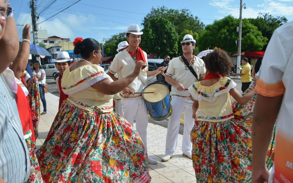 Marabaixo é manifestação cultural tradicional do Amapá — Foto: Fabiana Figueiredo/G1