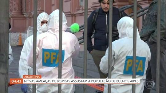 Novas ameaças de bombas assustam a população de Buenos Aires, Argentina