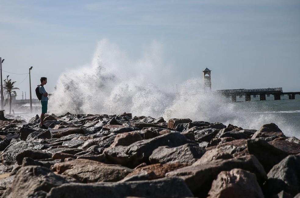Marinha alerta para ventos fortes no litoral do RN - Foto de arquivo — Foto: Natinho Rodrigues/SVM